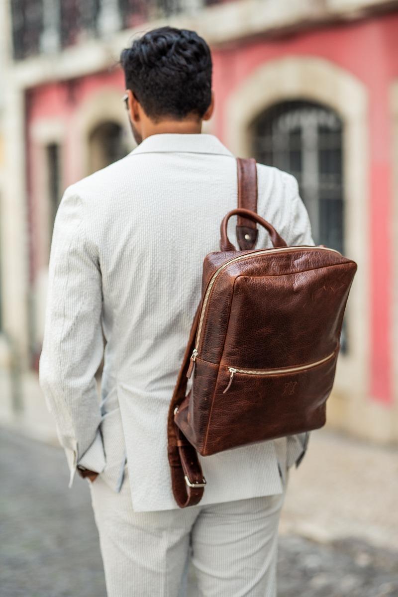 backpack leather; Leather bag; Brown bag; Undandy Bag